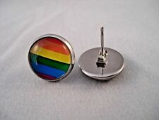 Pride LGBT Rainbow High Quality Stainless Steel Stud Earrings Unisex