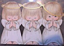 Hallmark Crown  CHRUB  Angel  DIE CUT  VTG Christmas Greeting Card