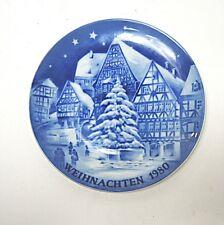 Weihnachtsteller Royal Bavaria 1980 Miltenberg Kobalt blau