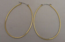 Unisex Fashion Large Egg Shaped Hoop Earrings Gold Tones BODY CENTRAL Leverback