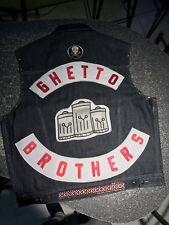 Ghetto Brothers Vest Gang Warriors Wanderers Jacket Denim Vintage Nostalgia 1970