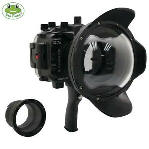"""Seafrogs 40m Underwater Camera Housing for Sony A7 II A7R II+8"""" Dome Port & Grip"""