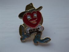 British Heart  Foundation Heart Cowboy Pin Badge