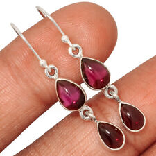 Garnet 925 Sterling Silver Earring Jewelry AE140227