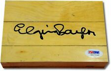 Elgin Baylor Hand Signed Autograph Original Forum Floor Floorboard PSA/DNA 365