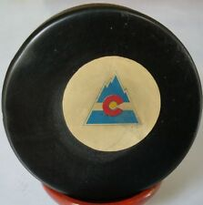 1976-77 RARE 1 YEAR! COLORADO ROCKIES NHL CONVERSE OFFICIAL GAME PUCK ART ROSS