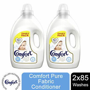 2 Pack Comfort Pure Fabric Conditioner, 85 washes