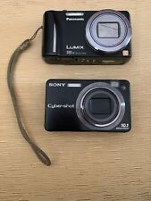 2 Cameras Panasonic LUMIX DMC-ZS8 Black And DSC W170~ Not Tested~ For Parts