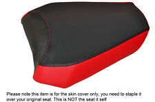 BLACK & RED CUSTOM FITS APRILIA MANA 850 08-15 REAR LEATHER SEAT COVER ONLY