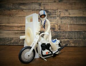 Vintage Ideal Evel Knievel Stunt Cycle & Launcher & Figure 1973