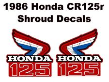 Tank decals for 1986 Honda CR125 Dirtbike    CR125r CR 125