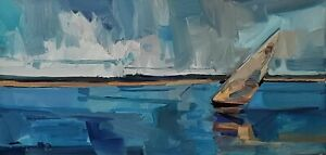 JOSE TRUJILLO Oil Painting IMPRESSIONISM SEASCAPE MODERN COLLECTIBLE ORIGINAL