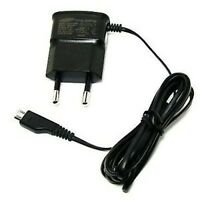 Genuine Samsung 2 Pin Euro Travel Mains Charger For S3 S4 S5 S6 -black