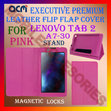 ACM-EXECUTIVE LEATHER FLIP CASE for LENOVO TAB 2 A7-30 TAB COVER STAND NEW- PINK
