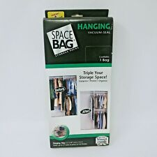 HANGING SPACE BAG VACUUM SEAL STORAGE PACKS HANGER INCLUDED, NEW FREE SHIPPING