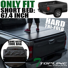 "TRI-FOLD SOLID TONNEAU COVER+TOOL BAG 2009-2017 DODGE RAM 5.7'/68.4"" SHORT BED"
