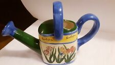 Ceramic Watering Can With Tulips