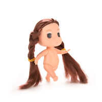 1 Pcs Mini Super Long Hair Doll for ddung Kid Birthday Cake Mold Tools Sz