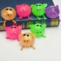Novelty Cute Pig Ball Venting Sticky Kids Squeeze Splat Water Anti Stress