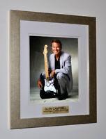 Rare GLEN CAMPBELL Signed Original Autograph, Frame, Plaque, COA, UACC, Records