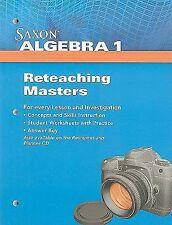 NEW - Saxon Algebra 1: Reteaching Masters 2009 by SAXON PUBLISHERS
