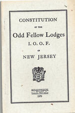 IOOF Constitution, New Jersey, 1979, Lot 74