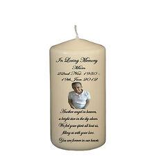 Personalizzato in loving memory di una persona amata comporta uno ricordo regalo Candela 15cm Tall