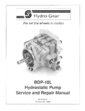 Hydro Gear BDP-10L  Hydrostatic Pump Repair Manual