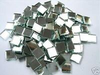 100 x 10mm  3mm Thick Glass Silver Mosaic Mirror Tiles