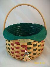 Longaberger 2003 Christmas Caroling Basket Combo w To