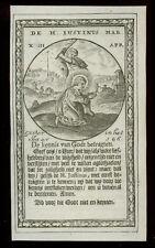 santino incisione 1600 S.GIUSTINO IL FILOSOFO M.
