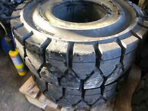 x2 Traxster forklift solid tyres 200x50x10. Brand new.