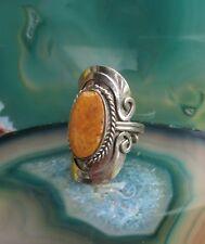 Stil 21 ~ Ring Alpaka Neusilber Jaspis braun Ethno Inka Maya Indianer
