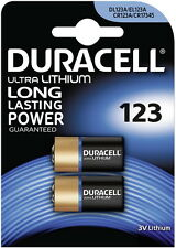 2 x Duracell Ultra Lithium Photo 123 DL123A CR123A, 1 x 2er Blister, bis 2026