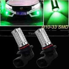 2x Green 33SMD H10 9145 Projector Lens Car LED Bulbs truck Fog Light Lamp