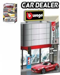 Bburago Build Your Ville - Car Dealer + 1 Car, Kit 1:43 Avec MB SLS AMG Roadst