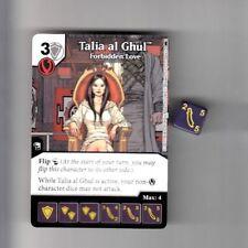DICE MASTERS DC BATMAN COMMON CARD & DIE #32 A/B TALIA AL GHUL FORBIDDEN LOVE