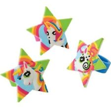 12 Unicorn Rubber Rings Jewelry Rainbow Colors Favors Birthday Party Event
