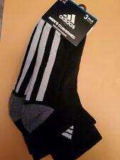 Adidas Socks 3 pairs large quarter black