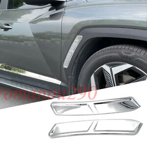 For Hyundai Tucson 2022-2023 Chrome Front Left and Right Wheel Eyebrows Trim 2PC