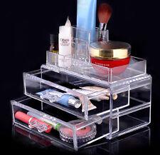 Acrílico Transparente Transparente Maquillaje Caja Organizador de cosméticos de Pantalla Estuche
