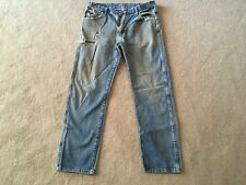 Naturally weathered dirty stained reg fit denim jeans 35X32.........Nature Made!