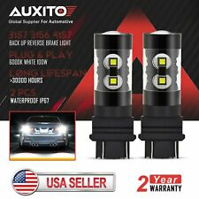 2x AUXITO 3157 3156 50W LED Bulb Reverse Brake Tail Side Marker Light 6000K 3057
