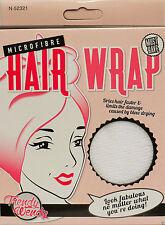 MICROFIBRE TURBIE WRAP TWIST/HAIR DRYING TOWEL/TURBAN-SHOWER/BATH -White