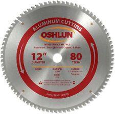 """Oshlun SBNF-120080 12"""" x 80T x 1"""" Arbor Saw Blade - Non Ferrous"""