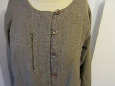 Masai British Tan Mod Contemporary Jacket of Linen Cotton Viscose Blend L/XL