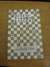26/10/1968 Queens Park Rangers v Manchester United. gracias por ver nuestra ITE