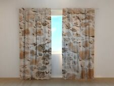 3D Photo Curtain Printed Wall Stones Architecture by Wellmira Made to Measure