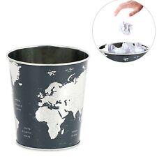 Cestino in latta getta carte Globe nero e argento