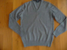 Pull ZARA col V 100% laine, taille M, gris chiné